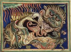 Hell mouth from the Lambeth Apocalypse [LPL MS 209f .36v.]