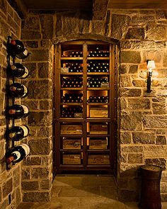 Luxury Wine Cellar, Gil Schafer. Add books and this would be the perfect library!