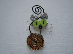 Gatto Brillante Leopardato spilla.ciondolo di Foresta Mentale Chiaresca su DaWanda.com
