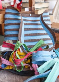 This is so funky! A bag made entirely out of zips!