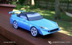 Honda S2000 CR paper model | papercruiser.com