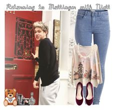 """""""Returning to Mullingar with Niall"""" by giovannacarlamalik ❤ liked on Polyvore featuring Pieces, H&M, LORAC, Charlotte Russe and Waterford"""