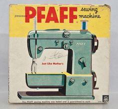 Vintage Sewing Machine PFAFF Junior Childs Original Box