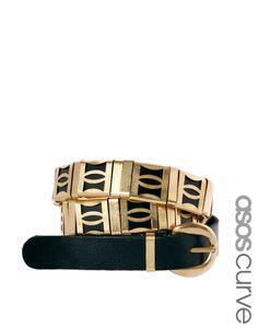 ASOS CURVE Skinny Link Detail Waist Belt