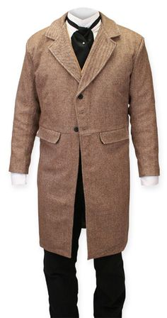 Brown Tweed Frock Coat - like the one James wears when Becky first meets him