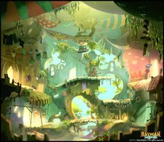 """Rayman Legends"" concept art by Aymeric Kevin"