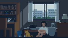 Arte 8 Bits, Gif Background, Cool Pixel Art, Japanese Superheroes, Pix Art, Pixel Animation, Cartoon Profile Pictures, Aesthetic Gif, Wallpaper Pc