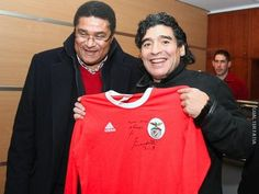 Eusebio e Maradona - Lisboa