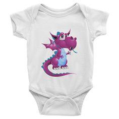 Draco Purple Infant short sleeve one-piece