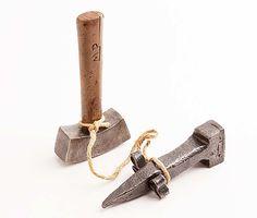 18Th Century Dengel Anvil And Scythe Hammer, The Anvil Measures 6 5/8 By 1 7/8. The Hammer Measures 7 By 3 3/4. $275