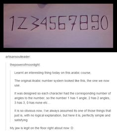 numbers were designed like this so each one had the corresponding number of angles to the number.