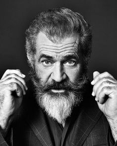 Mel Colmcille Gerard Gibson AO (born January is an Australian-American actor and filmmaker. Foto Portrait, Portrait Photography, Hollywood Actor, Hollywood Stars, Photographie Portrait Inspiration, Celebrity Portraits, Beard No Mustache, Black And White Portraits, Male Face