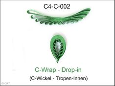 """The comb technique """"C-Wrap"""" you make by wrapping a quilling strip like a C to the comb. This is why its called C-Wrap. Klick on the following Video to see how to make a C-Wrap."""