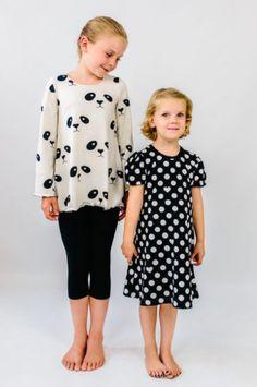 Ausgestelltes Kleid oder Tunika für Kinder nähen - Schnittmuster und Nähanleitung via Makerist,de