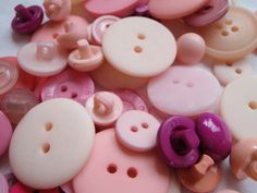 Pink Button Mix 5 to 30mm 80 to 100 Buttons by Spasojevich on Etsy, $5.00