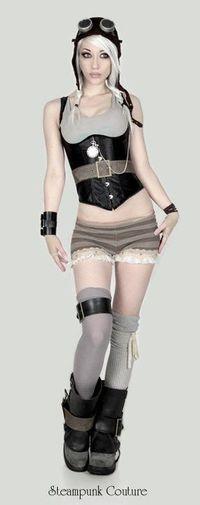 Steampunk Couture cosplay as tank girl! Kato Steampunk, Style Steampunk, Steampunk Couture, Victorian Steampunk, Steampunk Clothing, Steampunk Fashion, Gothic Fashion, Style Fashion, Fashion Clothes