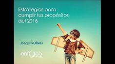 Webinar: Estrategias para cumplir con tus propósitos del 2016