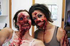Horror Society: Decent Looking Zombie Makeup (10 pics)   www.horrorsociety.com