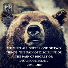 """We must all suffer one of two things: the pain of discipline or the pain of regret and disappointment"" - Jim Rohn  Get the MasterMind Skills app now!  ‪#‎Business‬ ‪#‎Entrepreneur‬ ‪#‎NetworkMarketing‬ ‪#‎MLM‬ ‪#‎App‬"