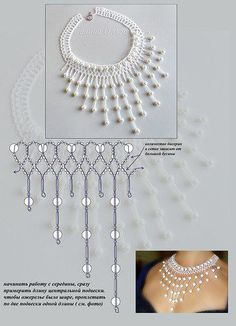 Netted necklace
