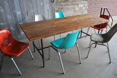 Custom Industrial Reclaimed Wood Dining Table(150 year plus