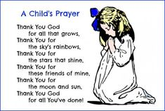 children's prayers grace before meals - Google Search