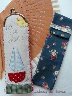Pues si....¡uf...que calor!.  Siempre me han encantado los abanicos y en esta época del año se convierten en un objeto ¡impresci... Love Sewing, Tote Purse, Makeup Table Vanity, Patches, Quilts, Purses, My Love, Totes, Fabric Crafts