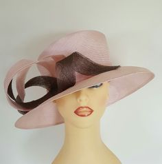Ladies Wedding Hat Races Mother Bride Ascot Baby Pink by GOLD