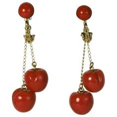"Charming Coral ""Cherry"" Earrings 