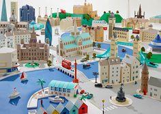 Hattie Newman y sus ciudades de papel