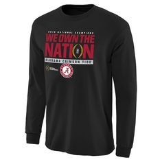 776759b3d Alabama Crimson Tide College Football Playoff 2015 National Champions We  Own the Nation Long Sleeve T-Shirt - Black
