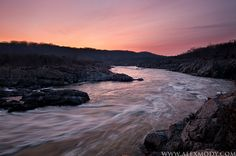 #Potomac Flow #Great Falls National Park, #Virginia The Potomac River flows into the Mather Gorge at sunrise. Credits:Alex Mody Photography www.alexmody.com/