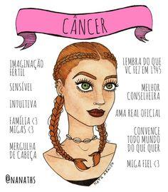 Ilustrações Signo Cancer! O melhor do zodiaco! #signos #cancer #thebest