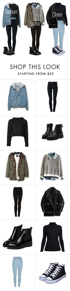 """EXO Inspired Outfits Pt.1"" by fangirlkaly8102 ❤ liked on Polyvore featuring STELLA McCARTNEY, Getting Back To Square One, McQ by Alexander McQueen, Topshop, H&M, WithChic, Rumour London, River Island, kpop and EXO"