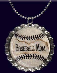 Baseball Mom Bottle Cap Necklace by forjoplin on Etsy, $5.00