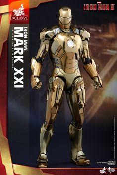 Hot Toys – MMS341 – 《鋼鐵人3》1/6比例 麥達斯 馬克21 (金色電鍍版) Midas Mark XXI (Gold Chrome Version) | 玩具人Toy People News