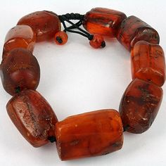 Baltic amber vintage beads