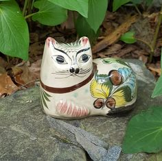 Tonala Cat Mexican Pottery by WillowLaneGallery on Etsy