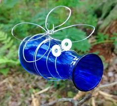 My first 'Glass bug'. Garden Art, Wind Chimes, Island, Glass, Outdoor Decor, Home Decor, Decoration Home, Drinkware, Room Decor