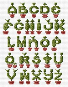 Topiary Garden Alphabet Sampler Cross Stitch Chart, PDF. £6.00, via Etsy.