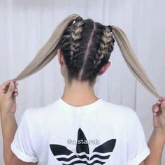 Simple Coiffure Concepts For Your Hair Hair simple fingers Concepts Back To School Hairstyles, Fast Hairstyles, Girl Hairstyles, Braided Hairstyles, Amazing Hairstyles, Hairstyles Tumblr, Teenage Hairstyles, Girl Haircuts, Modern Hairstyles
