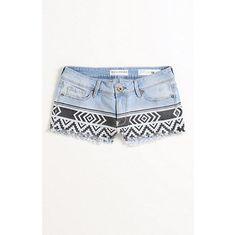 Bullhead Denim Co Print Blocked Denim Shorts at Pa ($39.50)
