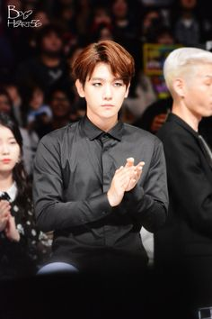 Byun looking perfectly handsome in black...
