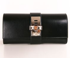 Hermes Black Medor Clutch
