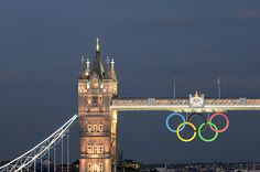 Olympic Rings on Tower Bridge by Arpad Lukacs Photography, via Flickr