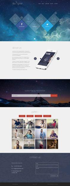 De7igner - Flat iOS7 Inspired Coming Soon Template by Zizaza - design ocean , via Behance