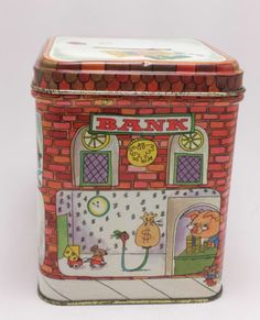 Vintage Richard Scarry Hallmark Busytown TIN Piggy Bank 1976 | eBay