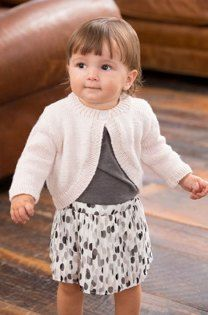 c3b2110cc Knit a little girl s shrug  free knitting pattern