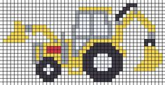 Bulldozer X-Stitch Cross Stitch For Kids - Diy Crafts - hadido - Knitting patterns, knitting designs, knitting for beginners. Cross Stitch For Kids, Cross Stitch Baby, Cross Stitch Charts, Cross Stitch Borders, Cross Stitch Designs, Cross Stitching, Cross Stitch Embroidery, Cross Stitch Patterns, Knitting Charts