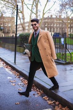 Mens Street Style: Kadu Dantas with the Fauré Le Page Pochette Zip as his weapon of seduction in London.